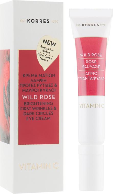 Крем для кожи вокруг глаз с дикой розой - Korres Wild Rose Brightening Eye Cream For Fine Lines & Dark Circles