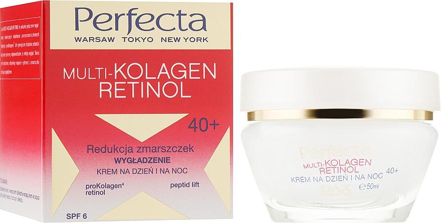 Разглаживающий крем для лица с коллагеном и ретинолом - Dax Cosmetics Perfecta Multi-Collagen Retinol Face Cream 40+