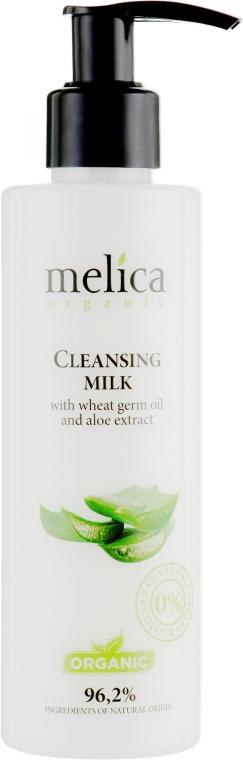 Очищающее молочко с маслом зародышей пшеницы и экстрактом алоэ - Melica Organic Cleansing Milk