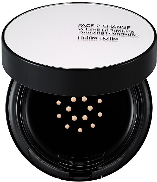 Тональное средство с запасным блоком - Holika Holika Face 2 Change Volume Fit Strobing Pumping Foundation