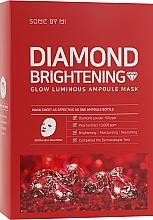 Духи, Парфюмерия, косметика Осветляющая ампульная маска с алмазной пудрой - Some By Mi Diamond Brightening Calming Glow Luminous Ampoule Mask