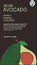 """Духи, Парфюмерия, косметика Восстанавливающая тканевая маска для лица """"Масло авокадо"""" - Moksha Dear. Avocado Butter Sheet Mask"""