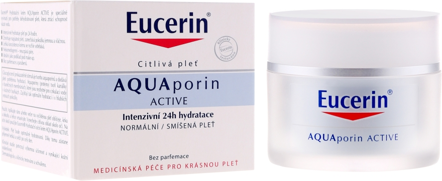 Увлажняющий крем для нормальной и комбинированной кожи лица - Eucerin AquaPorin Active Deep Long-lasting Hydration For Normal To Mixed Skin