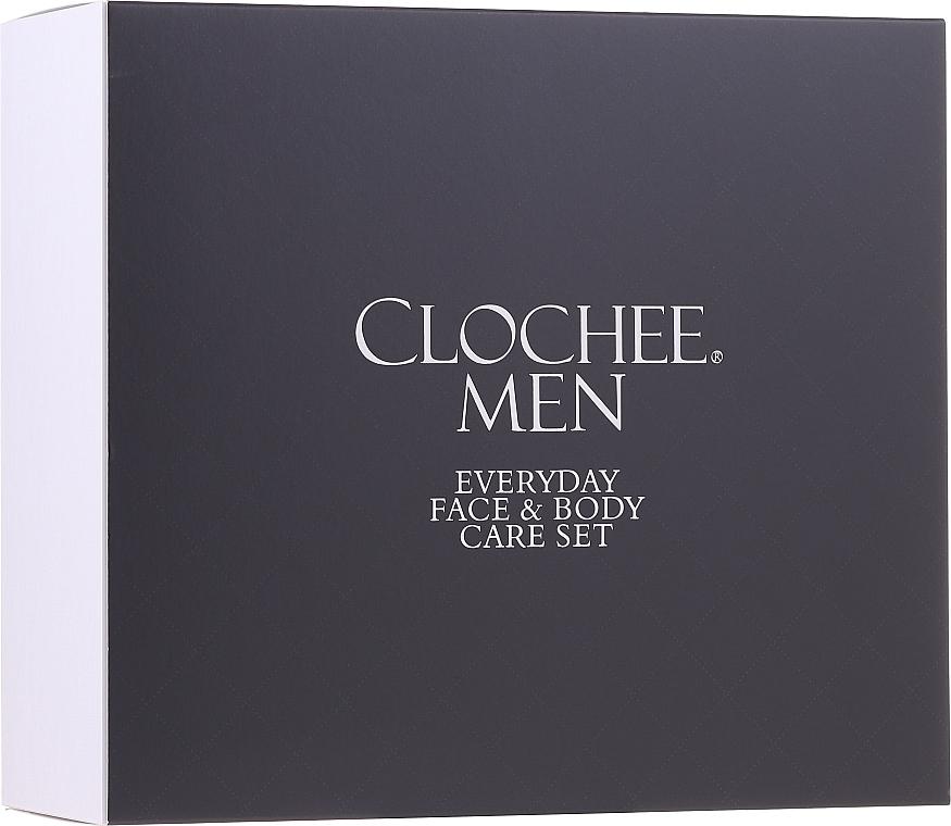 Набор - Clochee Men Facial & Body Skin Care Set (f/cr/50ml + show/gel/250ml + bag)