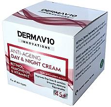 Духи, Парфюмерия, косметика Крем с ретинолом - Derma V10 Innovations Anti Ageing Day & Night Cream 45+