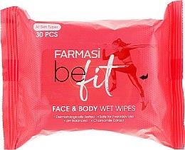 "Духи, Парфюмерия, косметика Влажные салфетки для лица и тела ""Be Fit"" - Farmasi Face & Body Wet Wipes"