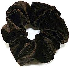 Духи, Парфюмерия, косметика Резинка для волос велюровая P1600-5, 11 см d-5,5 см, коричневая - Akcent
