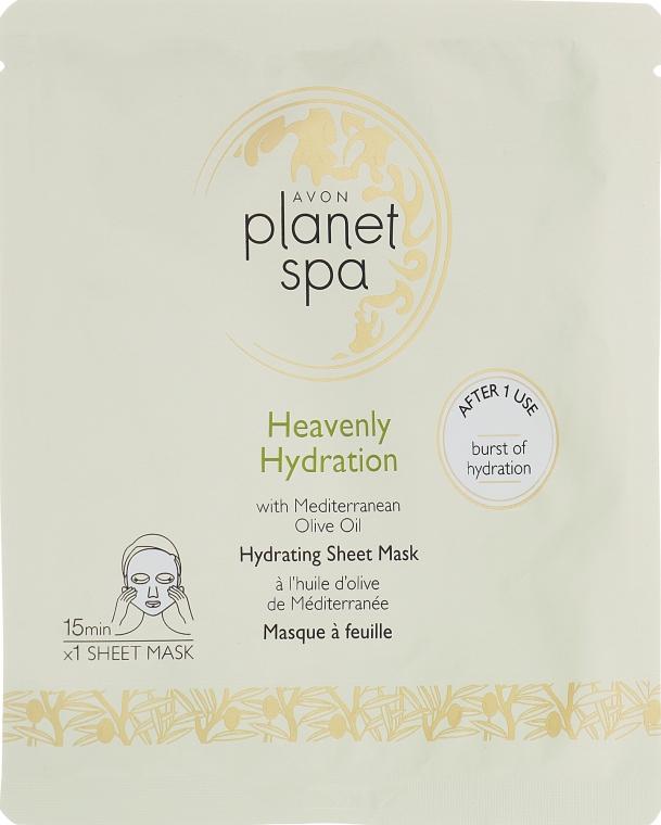 Увлажняющая тканевая маска для лица с оливковым маслом - Avon Planet Spa Heavenly Hydration Face Mask