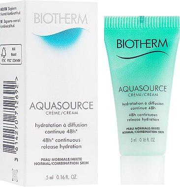 Увлажняющий крем для нормальной и комбинированной кожи - Biotherm Aquasource 48H Continuous Release Hydration Cream (пробник)