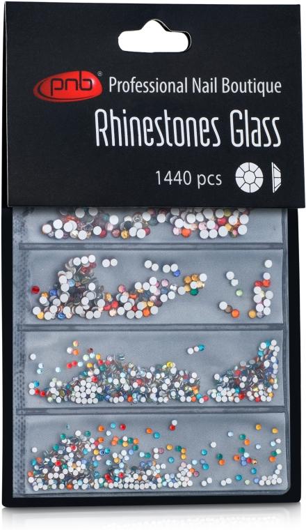 Стразы для ногтей - PNB Colorful Mix SS2,3,6,8,10,12 Glass