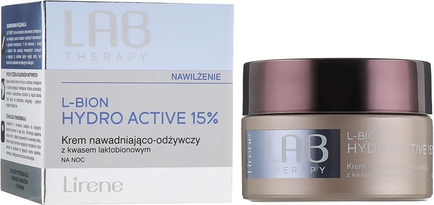Увлажняющий питательный ночной крем для лица - Lirene Lab Therapy Moisture L-Bion Hydro Active 15% Cream