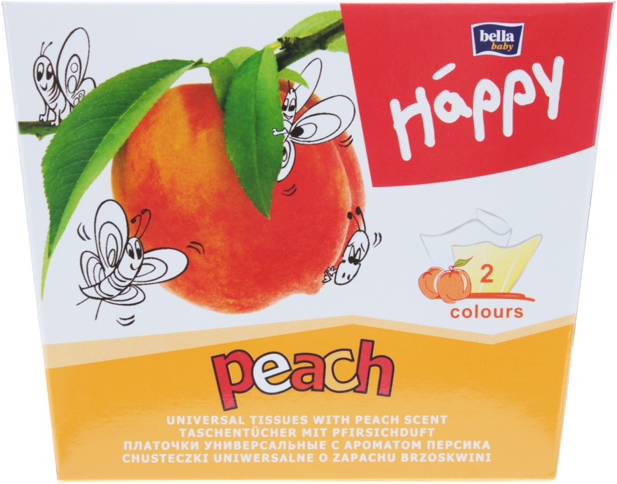 Салфетки универсальные, peach - Bella Baby Happy