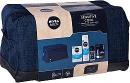Духи, Парфюмерия, косметика Набор - Nivea Men Sensitive Cool (sh/gel/200ml + ash/balm/100ml + deo/50ml + l/balm/4.8g + bag)