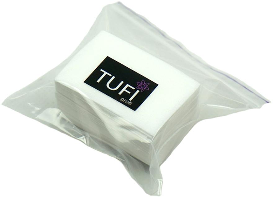 Безворсовые салфетки, тканевые 4х6 см, 70шт. - Tufi Profi