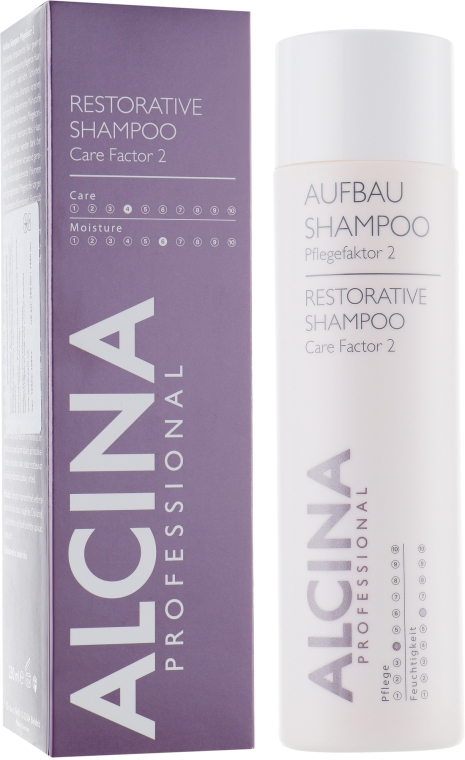 Восстанавливающий шампунь для поврежденных и пористых волос - Alcina Care Factor 2 Restorative Shampoo