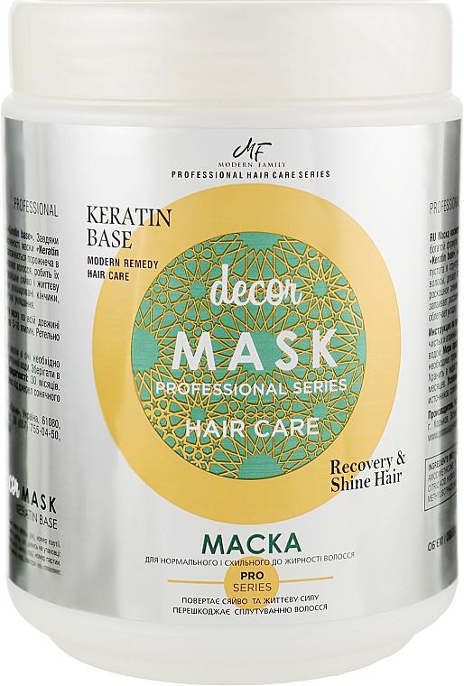 Маска косметическая для волос - Pirana MODERN FAMILY Keratine Base