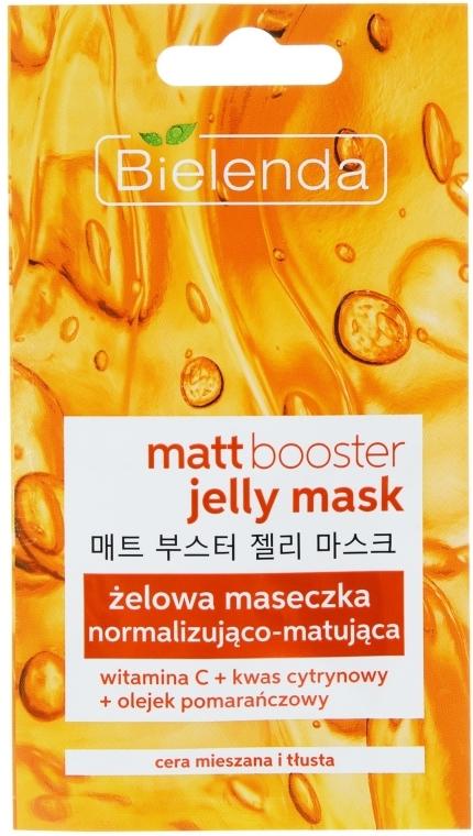 Матирующая маска-гель для жирной и комбинированной кожи - Bielenda Matt Booster Jelly Mask