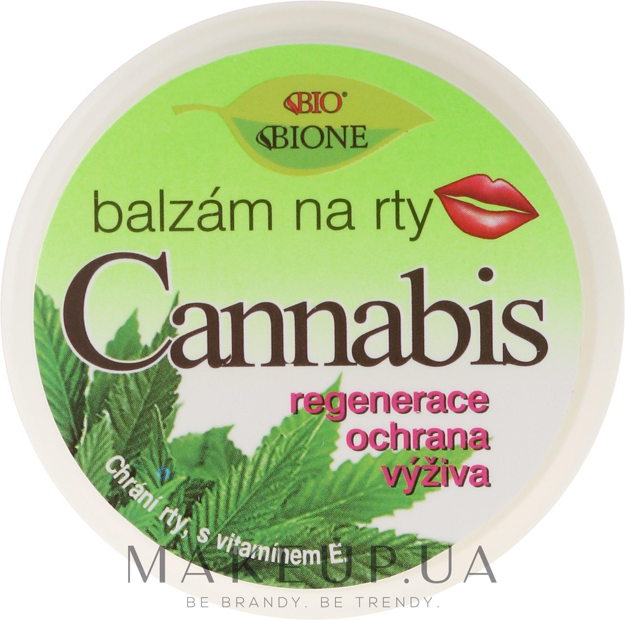 Бальзам для губ - Bione Cosmetics Cannabis Lip Balm with UV Filter and Vitamin E — фото 25ml