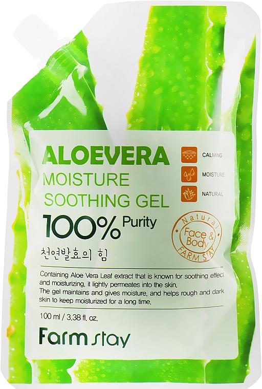 Многофункциональный гель с экстрактом алоэ вера - FarmStay Aloevera Moisture Soothing Gel (дой-пак)