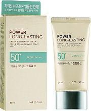 Духи, Парфюмерия, косметика Солнцезащитный крем - The Face Shop Power Long-Lasting Green Tone Up Sun Cream SPF50+ PA++++