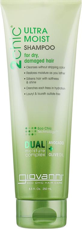 Увлажняющий шампунь для волос - Giovanni 2chic Ultra-Moist Shampoo Avocado & Olive Oil