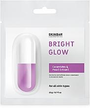 Парфумерія, косметика Альгінатна маска заспокійлива з керамідами та екстрактом перлів - SKINBAR Alginate Face Mask Bright Glow