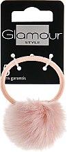 Духи, Парфюмерия, косметика Резинка для волос с пушком, бледно-розовая - Glamour