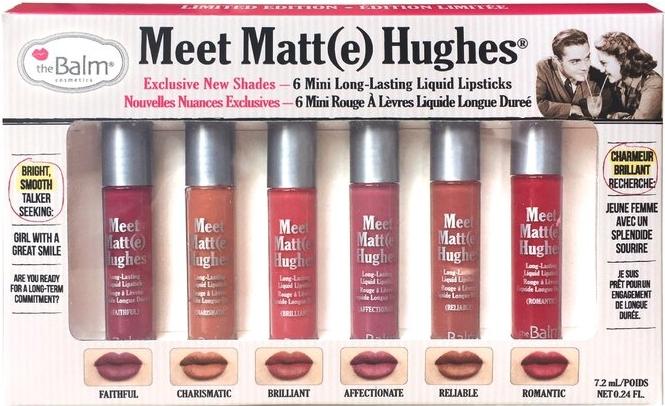 Мини-набор матовых помад для губ - theBalm Meet Matte Hughes Mini Kit 02 (lipstick/6x1.2ml)