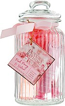 Духи, Парфюмерия, косметика Набор с ароматом пиона и ветивера - Grace Cole Pink Peony & Vetiver Feminine Florals (b/wash/100ml + b/foam/100ml + b/cream/50ml + h/cream/50ml + sponge)