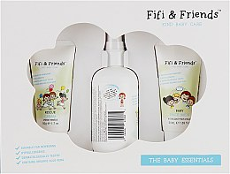 Духи, Парфюмерия, косметика Набор детский - Fifi & Friends The Baby Essentials (milk/50ml + cream/50ml + spray/150ml)