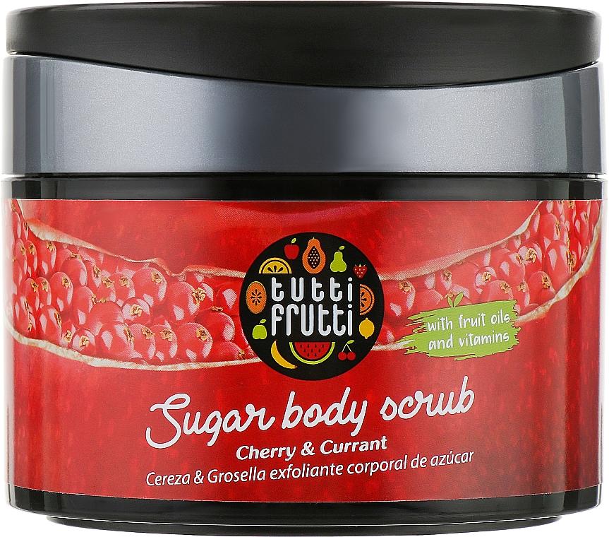 "Пилинг сахарный для тела ""Вишня и смородина"" - Farmona Tutti Frutti Sugar Body Scrub"