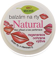 Парфумерія, косметика Натуральний бальзам для губ - Bione Cosmetics Vitamin E