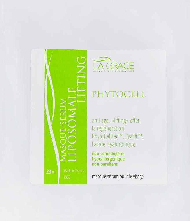 """Маска-сывортка для лица """"Липосомный лифтинг"""" на тканевой основе - La Grace Masque-Serum Liposomale Lifting PhytoCellTec"""