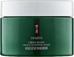 Духи, Парфюмерия, косметика Очищающая грязевая маска для лица с бобами - Venzen Green Beans Mud Cleansing Mask