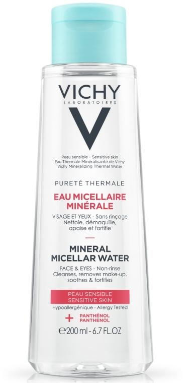 Мицеллярная вода для чувствительной кожи лица и глаз - Vichy Purete Thermale Mineral Micellar Water