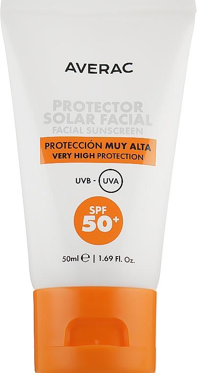 Солнцезащитный крем для лица SPF50+ - Averac Solar Facial Sunscreen Cream SPF50+