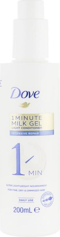 Восстанавливающий кондиционер-гель для слабых и поврежденных волос - Dove 1 Minute Milk Gel Light Conditioner