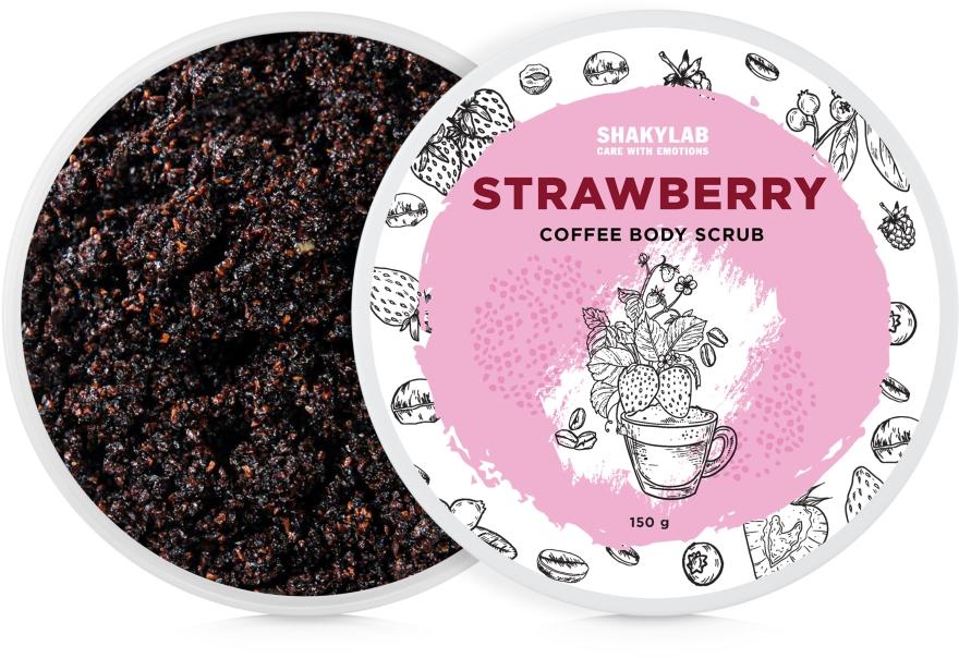 "Кофейный скраб для тела ""Strawberry"" - SHAKYLAB Coffee Scrub Strawberry"