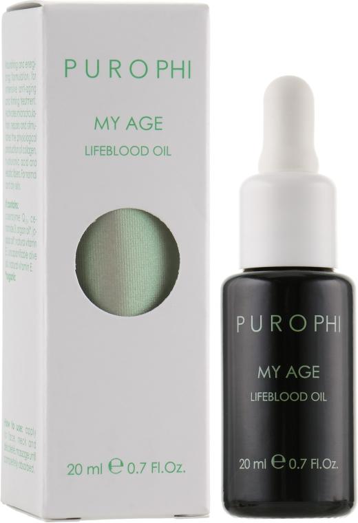 Антивікова олія-енергетик для зрілої шкіри - Purophi My Age Lifeblood Oil — фото N1