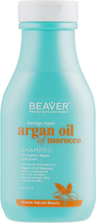 Восстанавливающий шампунь для поврежденных волос с Аргановым маслом - Beaver Professional Damage Repair Argan Oil Of Morocco Shampoo (мини)