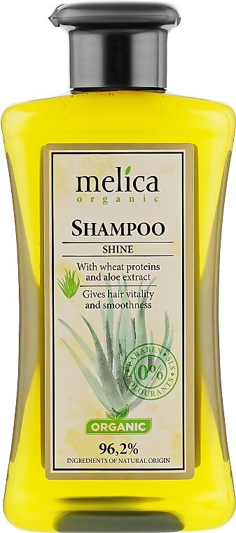 """Шампунь для волос """"Здоровый блеск"""" - Melica Organic Shine Shampoo"""