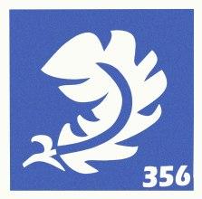 Духи, Парфюмерия, косметика Трафарет для боди-арта, 6х6 см, 356 - Biofarma