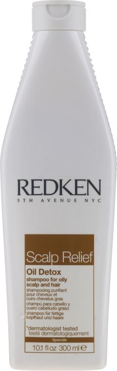 Шампунь для жирных волос - Redken Scalp Relief Oil Detox Shampoo