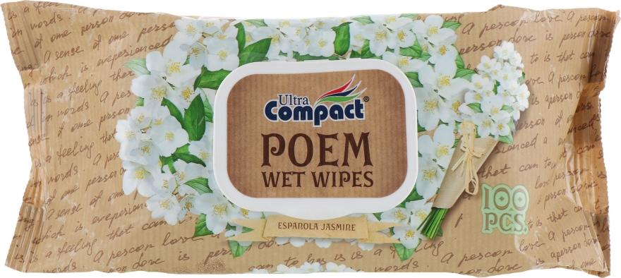 "Влажные салфетки с клапаном ""Испанский жасмин"" - Ultra Compact Poem Wet Wipes — фото N1"