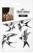 Духи, Парфюмерия, косметика Черные переводные тату - Miami Tattoos Flight (мини)