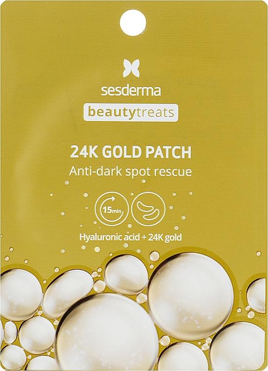 Гидрогелевые патчи для глаз - SesDerma Laboratories Beauty Treats 24k Gold Eye Patch — фото N1