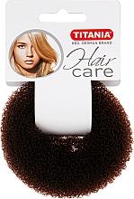 Духи, Парфюмерия, косметика Зажим для волос объемный, коричневий, 8см - Titania