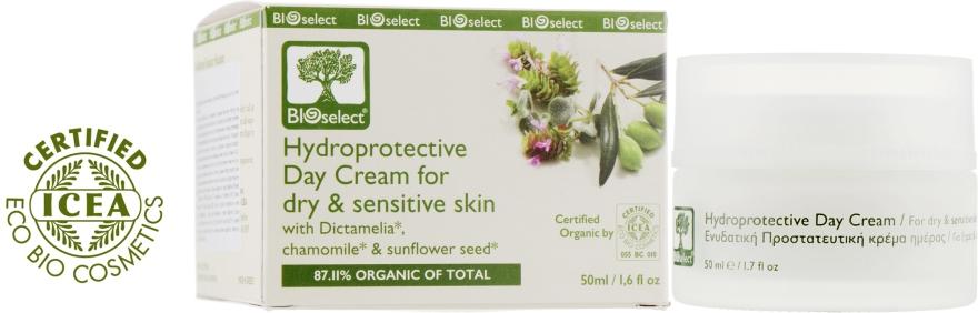 Дневной увлажняющий крем с диктамелией и ромашкой - BIOselect Hydroprotective Day Cream For Dry And Sensitive Skin