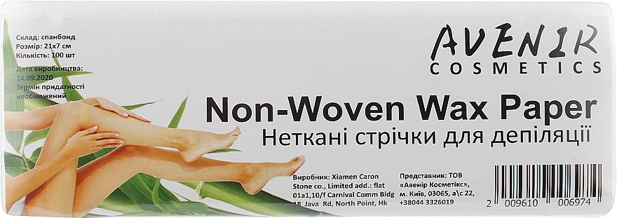 Полоски для депиляции - Avenir Cosmetics Non-Woven Wax Paper