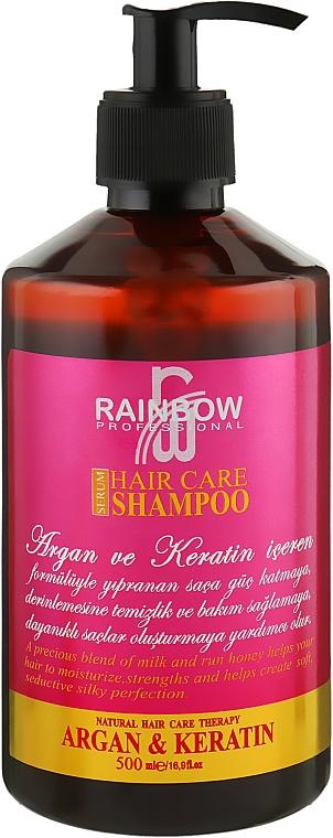 "Шампунь для волос ""Арган и Кератин"" - Rainbow Professional Hair Care Shampoo"